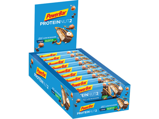 PowerBar Protein Nut 2 Bar Sacoche 18x2x22,5g, Milk Chocolate Hazelnut